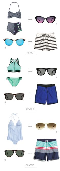 Sunglasses + Swimsuits = Summer Fun
