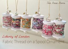 Easy Crafts To Make and Sell - Fabric Thread On A Spool Ornament - Cool Homemade Craft Projects You Can Sell On Etsy, at Craft Fairs, Online and in Stores. Quick and Cheap DIY Ideas that Adults and Even Teens Can Make http://diyjoy.com/easy-crafts-to-make-and-sell