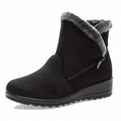 New Large Size Women Winter Boots Round Toe Ankle Short Snow Boots - US$17.68