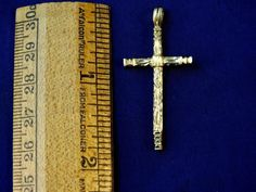 """14Kt  Yellow Gold Cross ~ 1 3/4"""" Long 2.9 Grams FREE SHIPPING IN USA ONLY"""