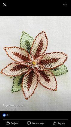 Needle Lace, Bobbin Lace, Lace Silk, Lace Making, Baby Knitting Patterns, Flower Crafts, Crochet Flowers, Needlepoint, Tatting