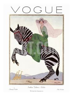 Vogue Cover - January 1926 Giclee Print by André E. Marty - This is the type of Vogue print for me.