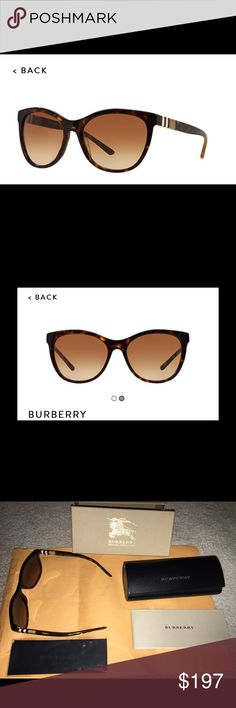 40a920038342 Gently used Burberry Sunglasses B 4199 Gently used stunning Burberry  sunglasses! Unopened Burberry cleaning cloth