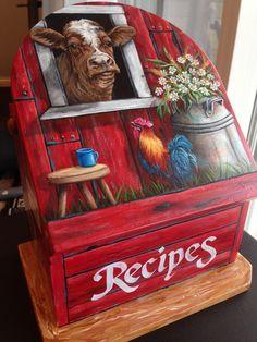 Trendy Painting Ideas On Wood Box 63 Ideas Farm Paintings, Animal Paintings, Pallet Painting, Painting On Wood, Rock Painting, Painting Lessons, Painting For Kids, Country Star Decor, Country Farm