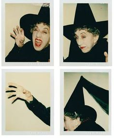 Margaret Hamilton Recreating Her Iconic Character, The Wicked Witch of the West by Andy Warhol