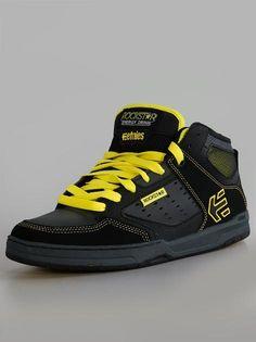 Etnies Rockstar Cartel Mid Black Grey Yellow