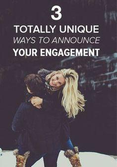 3 unique ways to announce your engagement