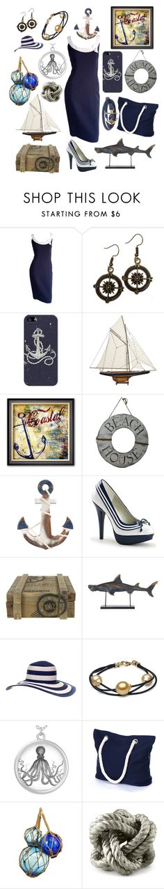 """""""Nautical but nice"""" by frizzynorse ❤ liked on Polyvore featuring Casetify, Authentic Models, Dot & Bo, Williams-Sonoma and Humble Chic"""