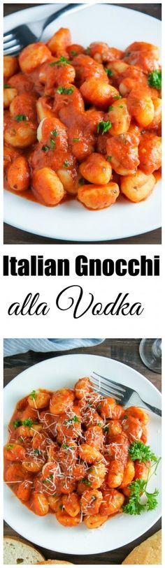 Soft pillows of potato gnocchi coated in a rich tomato vodka sauce.