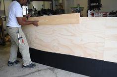 DIY Platform Bed With Floating Night Stands: 7 Steps (with Pictures) Laundry Basket Dresser, Faux Fireplace Mantels, Diy Platform Bed, Diy Dining Table, Old Beds, Guest Bedroom Decor, Stenciled Floor, Diy Nightstand, Diy Bed Frame