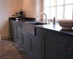 Houtwerk keuken in kleur (grijs) | Houtwerk