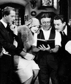 """fuckyeahjohngilbert: """" Lars Hanson, Greta Garbo, Clarence Brown and John Gilbert on the set of Flesh and the Devil, 1927 """""""