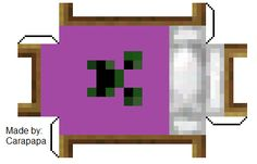 Papercraft Purple Creeper Bed