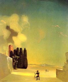 Salvador Dali- Enigmatic Elements in the Landscape. Love this crazy spaniard