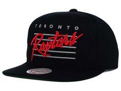 Toronto Raptors Mitchell and Ness NBA Cursive Retro Snapback Cap Hats
