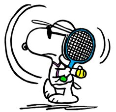 Snoopy in Tennis Training Camp Before Wimbledon (smaller)