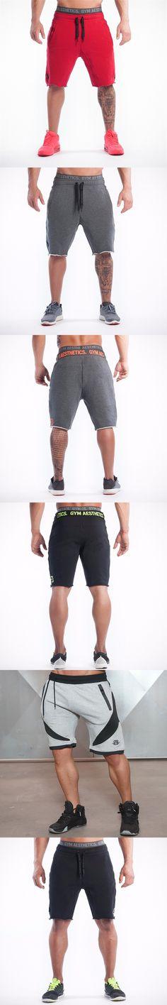 2017 summer Brand High Quality Cotton Men shorts Bodybuilding Fitness Gasp short masculino workout jogger shorts golds