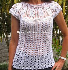Forrás:   celeidapaixaoportrico.blogspot.com.br/2013/11/blusa-em-crocchet-verao
