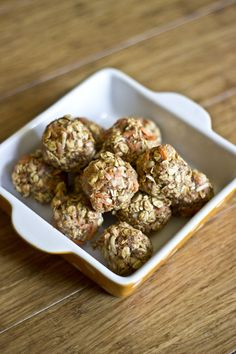 No-Bake Carrot Cookies No-Bake Carrot Cookies (vegan and gluten free) Everyone likes cookies for breakfast and these are ones everyone can feel good about.