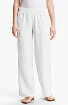 Nicki & Bell Rib Waist Linen Pants available at #Nordstrom
