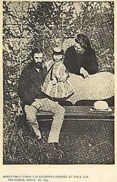 domnitorul-carol-i-si-elisabeta-doamna-cu-fetita-lor-principesa-maria-1873 Romanian Royal Family, Kaiser, Eastern Europe, Queen Anne, Royalty, History, Hungary, Europe, Queen Crown