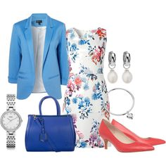 For Work #257 by annabouttown on Polyvore featuring mode, Niclaire, FOSSIL, Leona Edmiston and Cutie