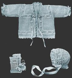 Baby Outfit Antique Crochet Pattern for download