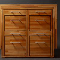 Transforming cabinet with hidden table and chairs from Claudio Sibille