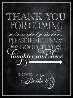 Printable Vintage Wedding Welcome Sign Thank You by pompdesigns