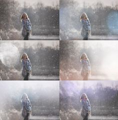 Painted Winter Photo Overlays for Photographers