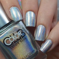 """Swatch of colorclub """"Harp on it"""" 2 easy coats and no topcoat so holo in the sun! Again from @live.love.polish"""