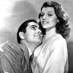 regram @la_ventana_indiscreta #tyronepower #ritahayworth