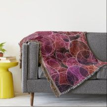 Pink_Purple_Red Pattern Throw Blanket