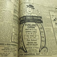 Today's ‪#‎tbt‬ is Jolly Cholly Funland in North Attleboro. They ran an ad in the Attleboro Sun 50 years ago today and tickets for rides were only $0.10, or 11 rides for $1.00.