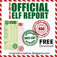 2013 Official Elf Report from Magnolia Creative Co. FREE Printable for and from your Elf. Christmas And New Year, All Things Christmas, Christmas Holidays, Xmas, Winter Holidays, Elf On The Self, Buddy The Elf, Merry And Bright, Holiday Fun