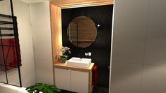 Praca konkursowa z wykorzystaniem mebli łazienkowych z kolekcji LOFTY #naszemeblenaszapasja #elitameble #meblełazienkowe #elita #meble #łazienka #łazienkaZElita2019 #konkurs Lofty, Mirror, Bathroom, Furniture, Design, Home Decor, Washroom, Decoration Home, Room Decor