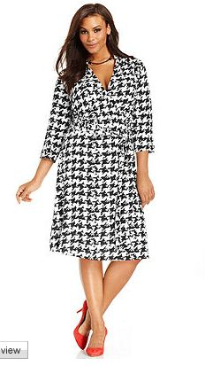 Dress In Houndstooth by INC
