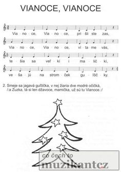 Výsledek obrázku pro dětské písničky noty vianoce,vianoce Christmas Preparation, Teaching Music, Winter Time, Diy And Crafts, Sheet Music, Preschool, Songs, Education, Advent