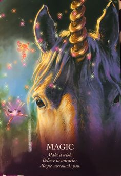 Oracle of The Unicorns ~Magic ☆☆☆ Make a Wish ,Believe in Miracles ,Magic surrounds you 😇 Believe In Miracles, Believe In Magic, Unicorn And Fairies, Angel Guidance, Oracle Tarot, Angels Among Us, Angel Cards, Fairy Art, Deck Of Cards