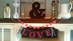 VALENTINES BANNER  Love Banner- Valentines Day Sign-Valentines Day Banner-Valentines Day Bunting - Photo Prop