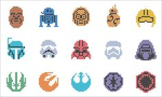 #186 BOGO FREE! Star Wars Heroes Force Awakens icons logo characters Cross Stitch Pattern - pdf pattern instant download For your consideration is a beautiful counted cross stitch pattern/chart as shown in the picture.  Pattern Details: This pattern is in PDF format and consists of a floss list, and a color symbol chart. A small sample of the color symbol chart is shown in the last photo. General instructions on how to make the item as shown are also provided. This listing is for a full-...