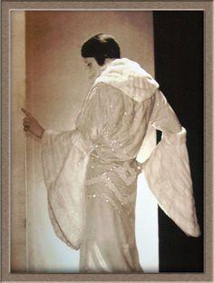 Lucien Lelong, Evening Coat, 1920's   Vintage Blog