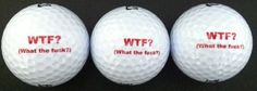 Set of 3 WTF What The Fuck Golf Balls on Brand Name Golf Balls -- Details can be found by clicking on the image. Note:It is Affiliate Link to Amazon.