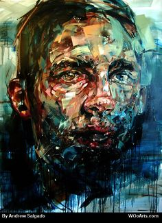 Amazing paintings by Andrew Salgado that are simply ooming with an undefined energy. Andrew Salgado (b. in Canada) is an artist living in London, UK. Amazing Paintings, Amazing Art, Awesome, L'art Du Portrait, Art Watercolor, High Art, Heart Art, Contemporary Paintings, Love Art