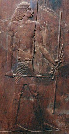 Relief Djoser wood panel at Saqara.