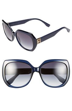 Fendi 57mm Oversized Sunglasses available at #Nordstrom