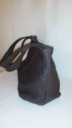 Genuine Black Leather Bag by Lolitasgear on Etsy, $75.00
