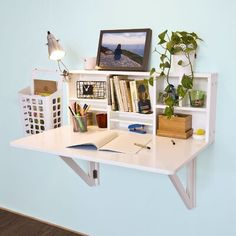 Home, Folding Walls, Wall Mounted Desk, Home Office Decor, Furniture, Wall Mounted Table, Leaf Table, Floating Desk, Desk Storage