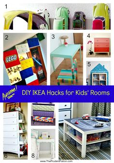 Awesome DIY IKEA Hacks for Kids' Rooms - I'm so doing this!