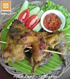 ayam panggang klaten Javanese, Indonesian Food, Tandoori Chicken, Chicken Recipes, Pork, Food And Drink, Meat, Cooking, Ethnic Recipes